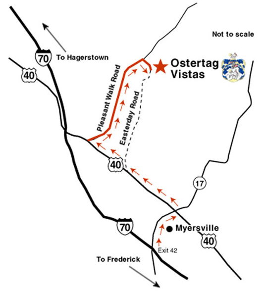Map and directions to Ostertag Vistas