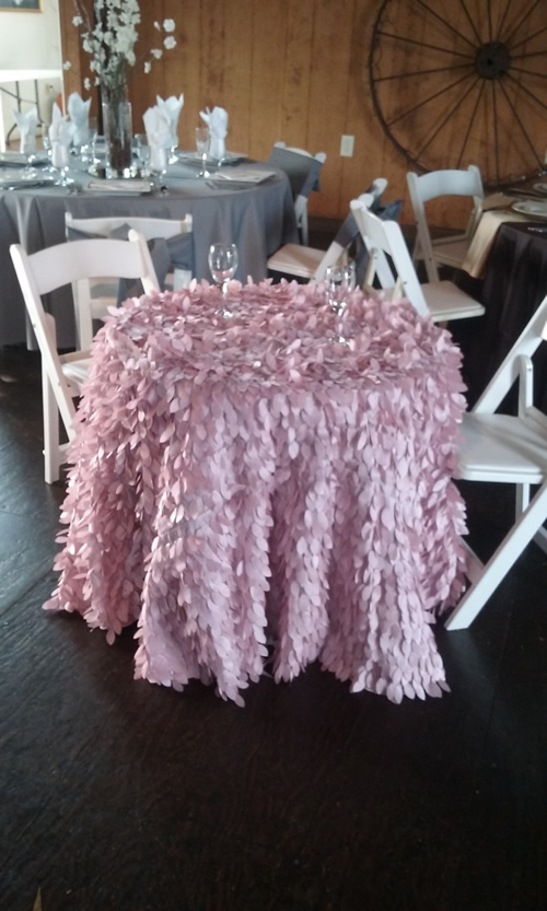 Pink feathery linen